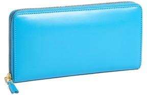 Comme des Garcons Men's Continental Long Wallet - Blue