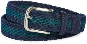 Izod Navy/Teal Stripe Stretch Web Belt - Boys 4-20