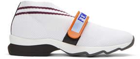 Fendi White Love Knit Sneakers