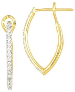 Frederic Sage 18K Yellow Gold Diamond Marquise Small Hoop Earrings