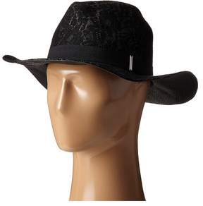 BCBGMAXAZRIA Lace Overlay Hat