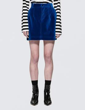 Fiorucci Viki Velvet Mini Skirt