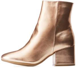 Charlotte Russe Bamboo Metallic Ankle Booties