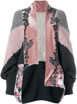 Antonio Marras embellished draped cardigan