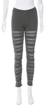 Trussardi Patterned Knit Leggings w/ Tags