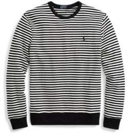 Ralph Lauren Striped Cotton Terry Pullover Nevis/Polo Black S