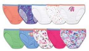 Hanes Girls' Cotton Bikinis 9+1 Bonus Pack