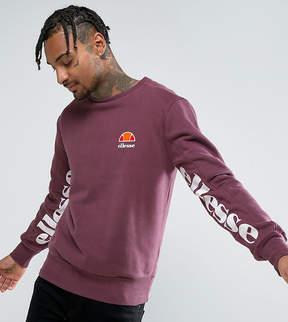 Ellesse Sweatshirt With Under Sleeve Print In Purple