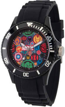 Marvel Classic Mens Black Strap Watch-Wma000068