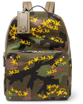 Valentino + Zandra Rhodes Camouflage Canvas Backpack