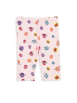Fendi Baby Girl's Fur Monster Print Leggings