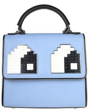 Les Petits Joueurs Les Petites Joueurs Handbag mini Alex Eyes In Light Blue Leather
