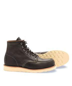 Red Wing Shoes Moc Boot In Charcoal Rough & Tough Leather
