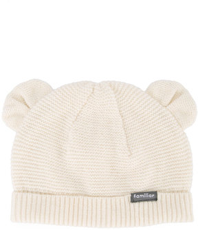 Familiar bear ears knitted hat