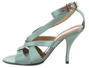 Barbara Bui Satin Ankle Strap Sandals