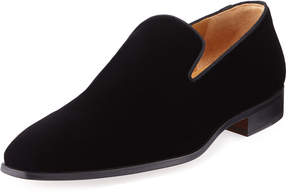 Magnanni Men's Velvet Slip-On Dress Shoes