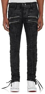 Faith Connexion Men's Waxed Lace-Up Skinny Jeans