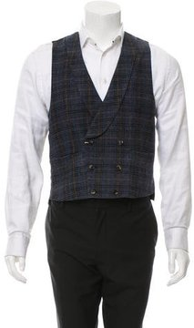 Kitsune Plaid Wool Suit Vest w/ Tags