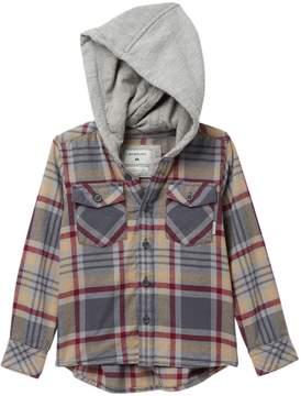 Quiksilver Hooded Tang Plaid Shirt (Toddler Boys)