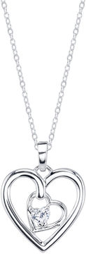Footnotes White Cubic Zirconia Pendant Necklace