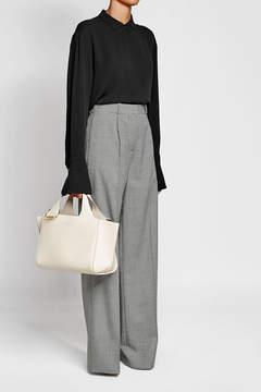 Victoria Beckham Small Newspaper Leather Shopper