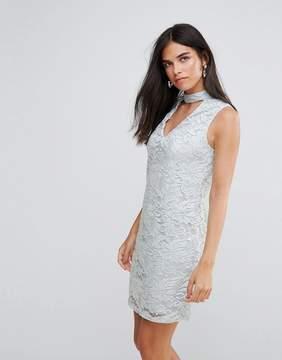 AX Paris Choker Neck Lace Mini Dress