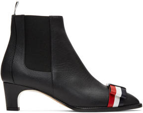 Thom Browne Black Bow Chelsea Boots
