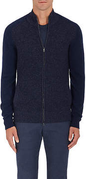 Loro Piana Men's Bomber-Style Cashmere Sweater