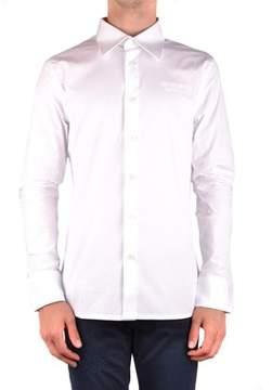 Dirk Bikkembergs Men's Mcbi097068o White Cotton Shirt.