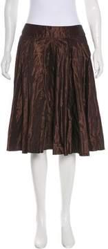 Carmen Marc Valvo Knee-Length Taffeta Skirt