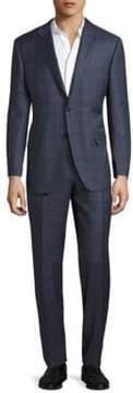 Canali Regular-Fit Plaid Wool Suit