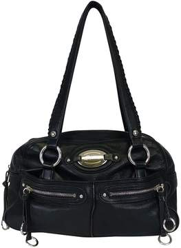 B. Makowsky Black Braided Handbag