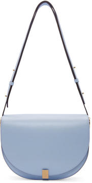 Victoria Beckham Blue Half Moon Bag