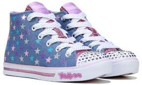 Skechers Kids' Twinkle Toes Sparkle Glitz High Top Sneaker Preschool