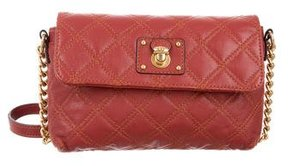 Marc Jacobs Quilted Leather Crossbody Bag - RED - STYLE