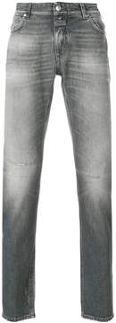 Closed distressed effect jeans