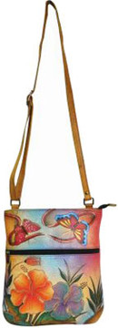 Anuschka Anna By ANNA by Hand Painted Slim Cross Shoulder Bag 8071 (Women's)