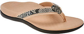 Vionic Orthotic Leather Thong Sandals -Tide Snake