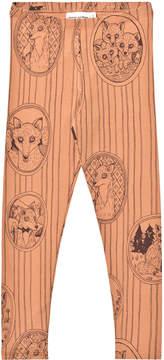 Mini Rodini Brown Fox Print Leggings
