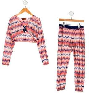 Missoni Girls' Chevron Pant Set
