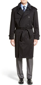 Hart Schaffner Marx Men's Barrington Classic Fit Cotton Blend Trench Coat
