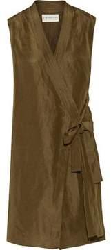 Simon Miller Nara Tie-Front Linen And Silk-Blend Vest