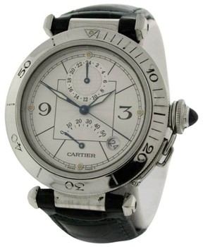 Cartier Pasha Stainless Steel & Leather 38mm Watch