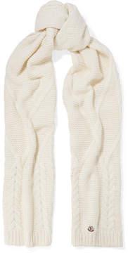Moncler Chunky-knit Scarf - Ecru