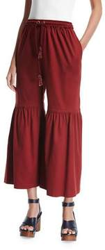 See by Chloe Flared Jersey Trousers