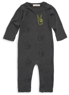 Appaman Baby's Peace & Thumbs Up Cotton Romper