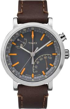 Timex Metropolitan+ TW2P92300 Grey/Brown Leather Analog Quartz Men's Watch