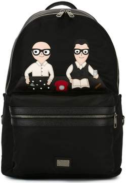 Dolce & Gabbana Volcano designers patch backpack
