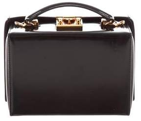 Mark Cross Patent Small Grace Box Bag