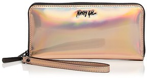 Nasty Gal Trust Fun Zip Around Metallic Wallet